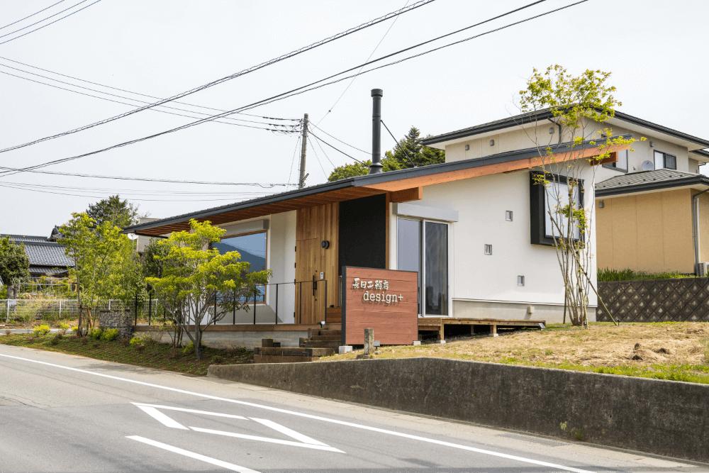 長田工務店Design+ 外観 南から見た様子